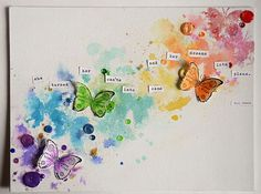 May Flaum's Canvas - love the rainbow progression and also the quote
