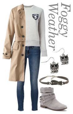 Foggy Weather by rhythmicgoofyworm on Polyvore featuring Être Cécile, Uniqlo, Frame Denim and Juicy Couture