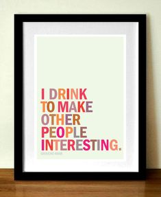 Quote poster print, Groucho Marx, typography 11x 17 in (A3) giclée print. $23.99, via Etsy.