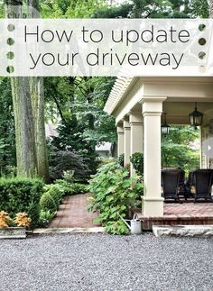 Pergola off off office. Add French doors in office and small stone patio beneath the pergola. Outdoor Rooms, Outdoor Gardens, Outdoor Living, Outdoor Decor, Porch Columns, Home Porch, Outside Living, Decks And Porches, Plein Air