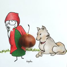 Little Red Riding hood and the Big Bad Wolf Vincent Bal, Little Red Hood, Illustration, Little Doll, Medieval Art, Beautiful Drawings, Cute Characters, Silhouette, Disney Art