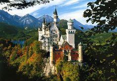 Most beautiful castle Neuschwanstein Castle - Germany