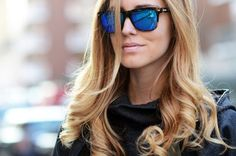 Reflective Sunglasses: The fanciest specs around. Rocked by The Blonde Salad. Ray Ban Sunglasses Sale, Trending Sunglasses, Stylish Sunglasses, Sunglasses Outlet, Sunglasses Women, Sunnies Sunglasses, Sunglasses Store, Wayfarer Sunglasses, Sunglasses Online