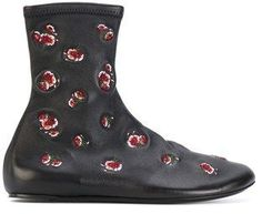 Kenzo Women's Black Leather Ankle Boots.