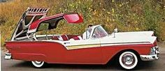 1957 Ford Fairlane Skyliner with a retractable roof cost $2,940. Cost more to build than to buy. Ford lost money on each one but they were a great promotional item.