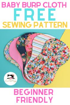 FREE Baby Burp Cloth Sewing Pattern and Tutorial – Sewing Projects Burp Cloth Patterns, Hat Patterns To Sew, Baby Clothes Patterns, Sewing Patterns Free, Baby Patterns, Free Sewing, Pattern Sewing, Pants Pattern, Dress Patterns