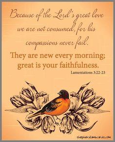 Lamentations 3:22-23❤️