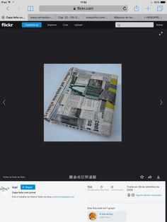 Capa feita com jornal