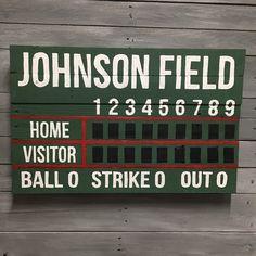 diy baseball scoreboard tutorial | signsandrea | baby riggs