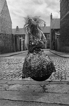 """Girl on a space hopper, Byker (Newcastle Upon Tyne, UK), 1971 by Finnish photographer Sirkka-Liisa Konttinen London Art Fair, Weegee, Martin Parr, Robert Doisneau, Documentary Photographers, 6 Photos, The New Yorker, Book Photography, Creative Photography"