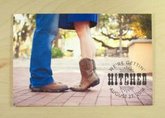 Getting Hitched Country and Southern Save the Date / Custom Designed and Printed By Darby Cards