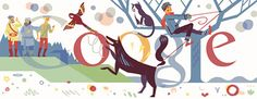 A 'Peter & the Wolf'-themed Google Doodle. Crafted to honor the 120th birthday anniversary of Russian pianist Sergei Prokofiev who composed a famous musical symphony of this classic children's story.