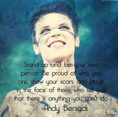 8280f4af3e Andy Biersack of Black Veil Brides quote  ) Yay Andy!