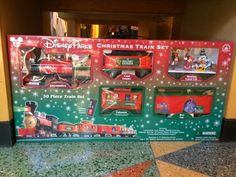 who doesnt love a train set around their christmas tree mickey mouse train