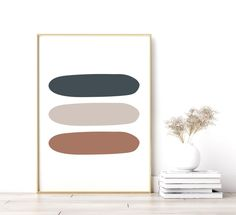 Modern Wall Decor, Minimalist Home Decor Geometric Wall Art, Colorful Wall Art, Minimalist Home Decor, Minimalist Design, Wall Art Sets, Large Wall Art, Modern Wall Decor, Retro Design, Decorating On A Budget