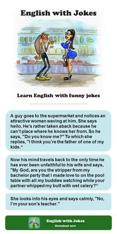 Download the App and Learn English with funny jokes