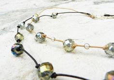 On Sale   Leather and Beaded Necklaces SOLD by LivingDesignsbyK, $15.00