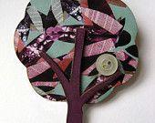 Beautiful patterned laser cut  tree brooch - Mica Peet