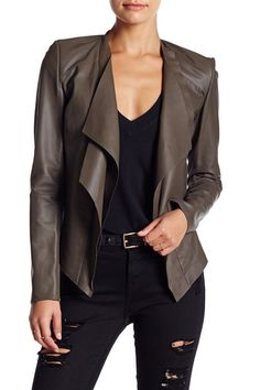 Zura Leather Jacket by LAMARQUE on @nordstrom_rack