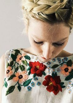 Embroidered Linen Tank by Tessa Perlow on Etsy