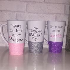 Busy Building My Empire Glitter Latte Mug | HunniBunni Boutique