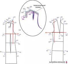 Как увеличить (уменьшить) выкройку   Готовые выкройки и уроки по построению на Выкройки-Легко.рф