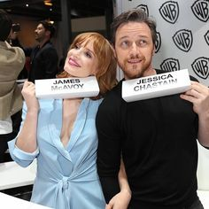 Jessica Chastain and James McAvoy🎭 I just love these two💘 . James Mcavoy Xmen, Beverly Marsh, It The Clown Movie, Le Clown, Scottish Actors, Mary Elizabeth Winstead, It Movie Cast, Rachel Weisz, Kate Winslet