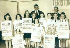 Jehovah Witness children advertising the Sunday talk in Charleston,WV
