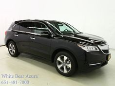 Have you seen the incredible 2016 Acura MDX SUV?! This one is all-wheel drive with a beautiful Crystal Black Pearl paint job on the outside and a luxurious Ebony Leather interior. Check it out on our site by clicking the photo! #WhiteBearAcura