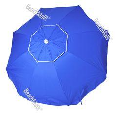 6.5ft Rio Umbrella UPF 100+ w/ Sand Anchor | http://www.beachmall.com/