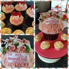 Giant cupcake - mother, wife and grandmother