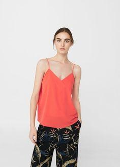 Top fluido tirantes - Camisas de Mujer | MANGO España