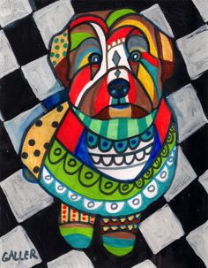 Wheaten Terrier Art Dog Print Poster Painting by HeatherGallerArt, $24.00