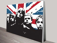 Pop Art Canvas Print of the legendary UK band, Oasis.