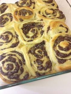 baked. chocolate swirl buns. yum!