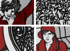 Papercut illustrations in newspaper by Varga Natália, via Behance