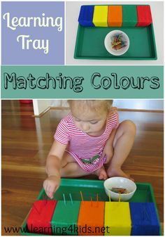 Fine Motor Learning Tray - Matching Colours