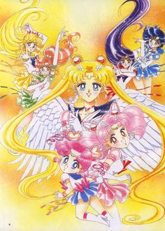 An art book of illustrations from the manga for Sailor Moon Sailor Moons, Sailor Moon Manga, Sailor Jupiter, Sailor Moon Crystal, Arte Sailor Moon, Sailor Venus, Sailor Scouts, Traje Jedi, Sailor Moon Official