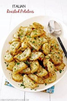 Italian Roasted Garlic & Parmesan Potatoes by Rose Tilley