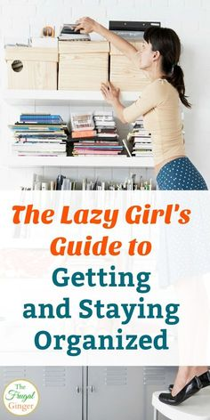 Get and Stay Organized: The Lazy Girl's Guide These lazy organizing tricks are a cheap and easy way to declutter every area in your home. Perfect DIY tips and ideas for the home so you can be organized and free of clutter once and for all! Clutter Organization, Home Organization Hacks, Organizing Your Home, Kitchen Organization, Organizing Ideas, Organising, Decluttering Ideas, Kitchen Storage, Bedroom Organization
