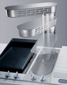 Gaggenau's telescopic downdraft extractor VL051. An innovation in extraction and product design as part of the Vario range.