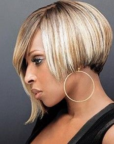 Sometimes it is fun to experiment with your relaxed hair. Trying hair dye for relaxed hair is one way. After all, if all goes awry, you can simply cut it off and start over again. Black Bob Hairstyles, Cool Short Hairstyles, Bob Haircuts, Layered Hairstyles, Relaxed Hair, Melena Bob, Short Hair Cuts, Short Hair Styles, Sassy Hair