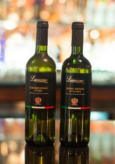 Luciano white wines- Chardonnay di Puglia and Pinot Grigio del Tarantino