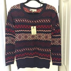 Navy red and white sweater Brand new Pink Rose Sweaters