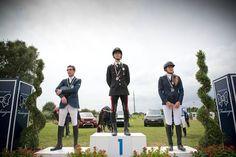 On the #podium:  1st - #FilippoBologni / #Italian #Young #Rider #Champion 2013 / #PROTECTED BY #KEPITALIA 2nd - #GuidoFranchi 3rd - #MatildeGiorgiaBianchi / #PROTECTED BY KEP ITALIA