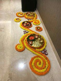 30 Dazzling Diwali Decorations DIY Ideas to Brighten-Up Your Home, . 30 Dazzling Diwali Decorations DIY Ideas to Brighten-Up Your Home, 30 Da. Rangoli Designs Flower, Rangoli Ideas, Rangoli Designs Diwali, Diwali Rangoli, Flower Rangoli, Beautiful Rangoli Designs, Rangoli With Flowers, Diwali Dekorationen, Small Rangoli