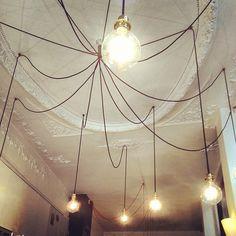 Paris cafe lighting