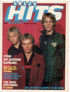 "21 Vintage Covers Of ""Smash Hits"" The Police"