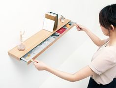 Secret Drawer: Bookshelf Hides Magnetically-Locked Storage
