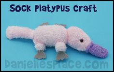 Platypus Sock Craft Kids Can Make www.daniellesplace.com